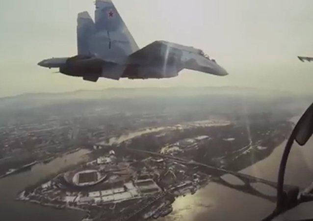 Stíhačky Su-30 budou zabezpečovat krytí letectva RF v Sýrii