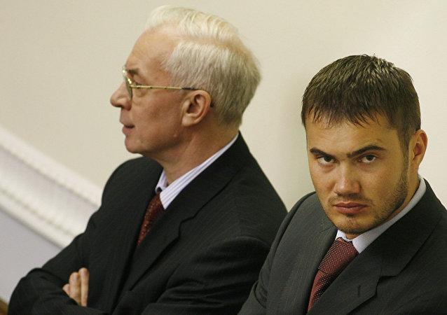 Bývalý ministr ekonomiky Nikolaj Nazarov a syn Viktora Janukoviče