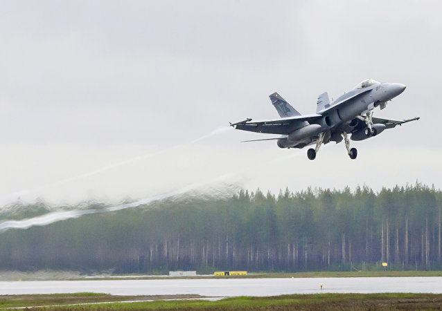 Letadlo švýcarských ozbrojených sil F/A-18