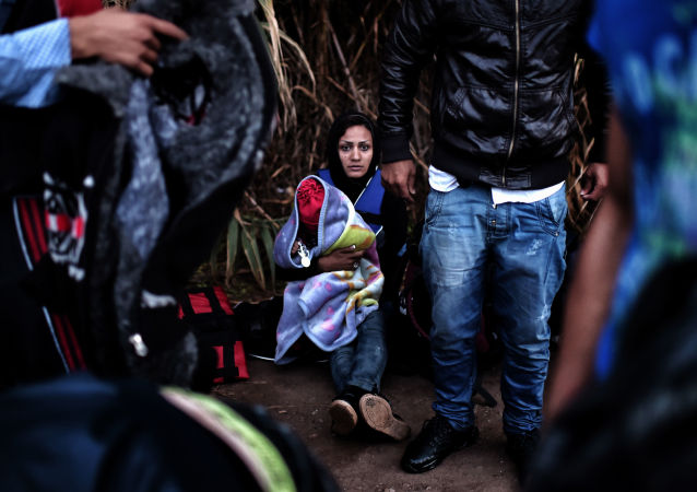 Migranti na řeckém ostrovu Lesbos.