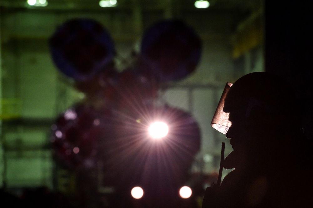 Příprava ke startu rakety Sojuz-FG