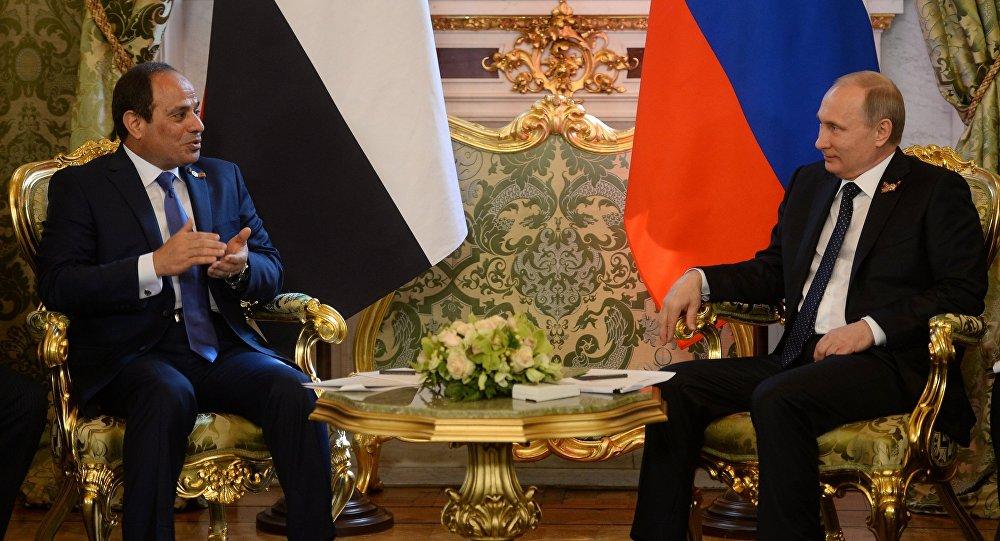 Egyptský prezident Abdel el-Sisi a ruský prezident Vladimir Putin