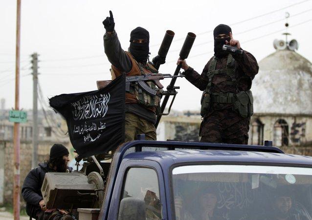 Příslušníci Fronty an-Nusrá napojené na teroristickou organizaci Al-Káida