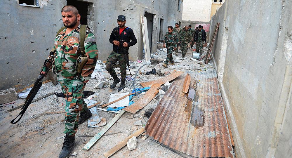 Syrská armáda v Homsu