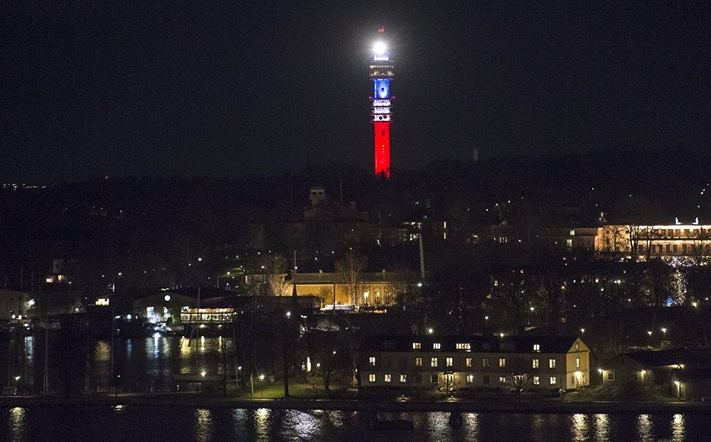 Kaknästornet (věž) ve Stockholmu, Švédsko
