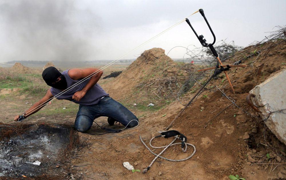 Protestní akce v Palestině