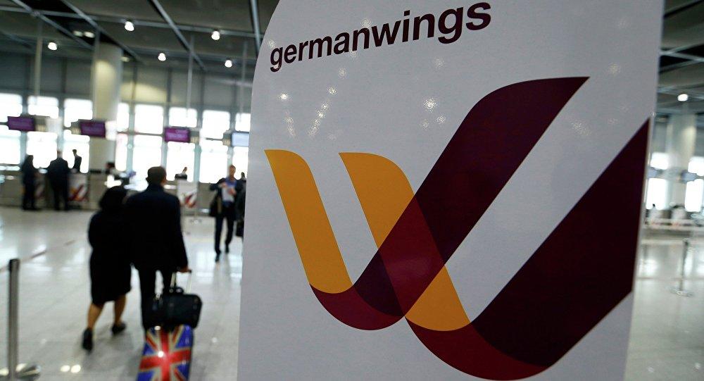Emblém Germanwings v Duesseldorfu
