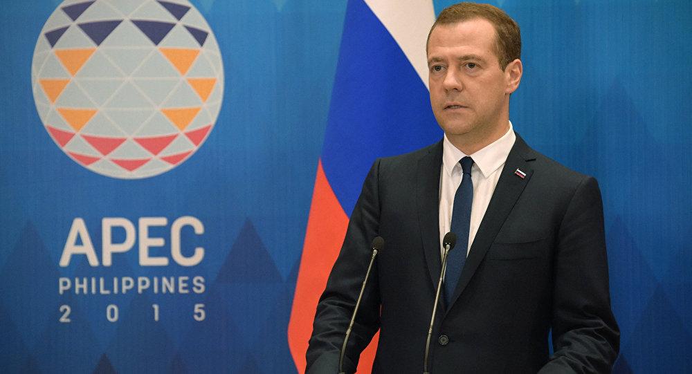 Ruský premiér Dmitrij Medveděv na summitu APEC