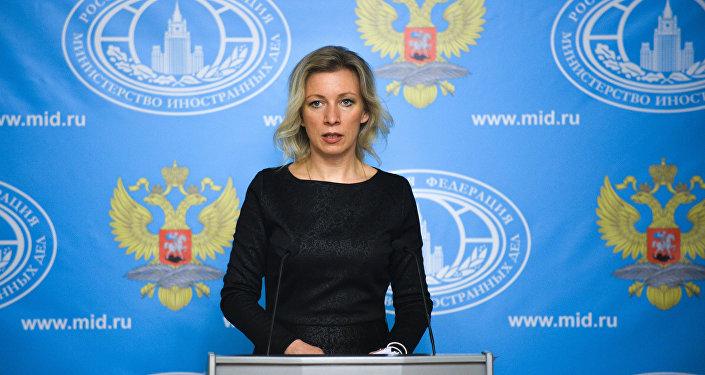 Oficiální mluvčí ruského ministerstva zahraničních věcí Maria Zacharovová