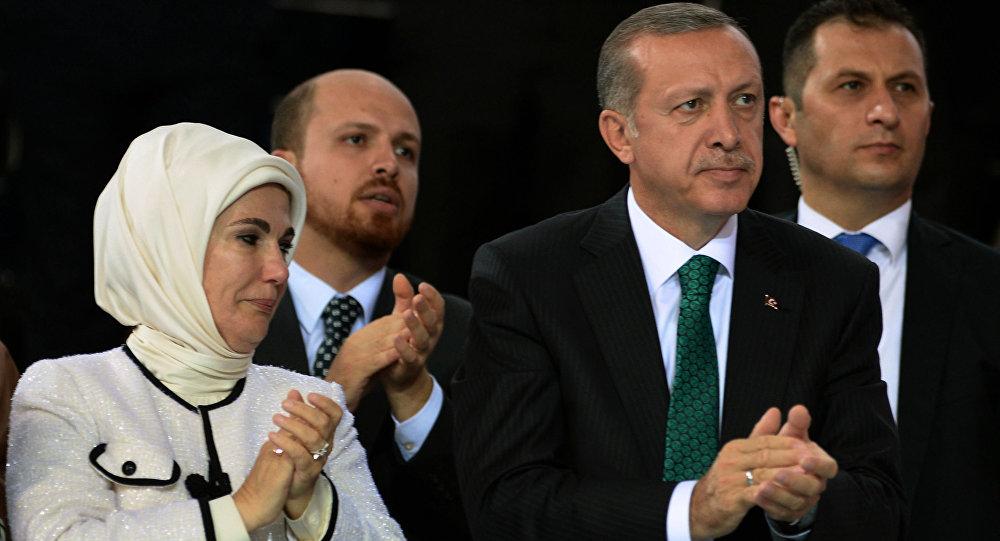 Recep Tayyip Erdogan, jeho žena a syn