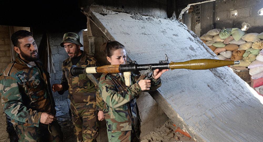 Příslušníci syrské armády