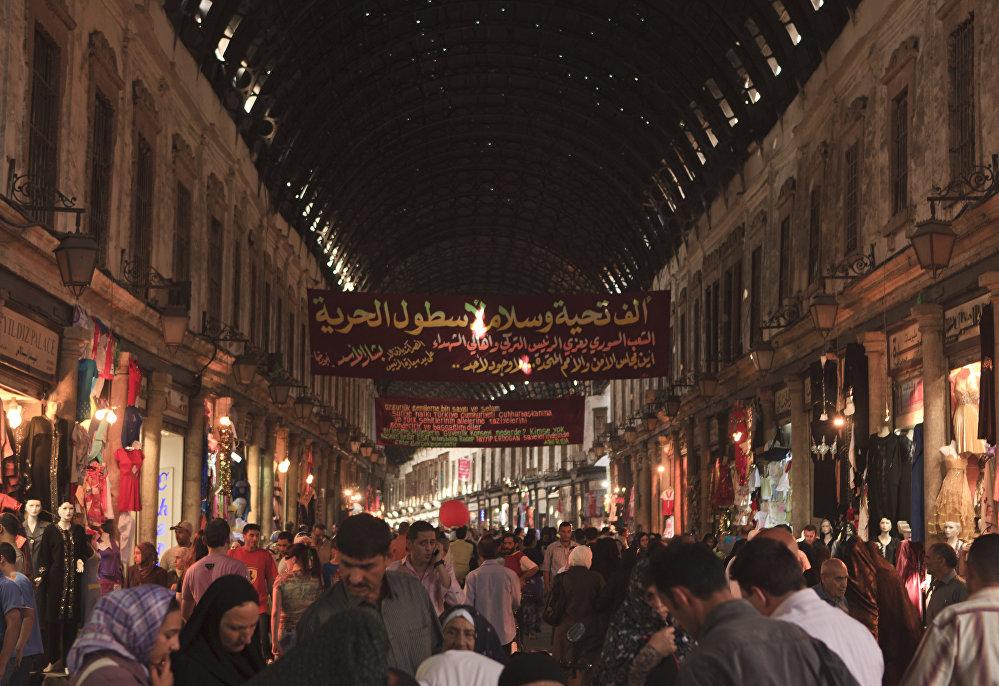 Hlavní trh v Damašku.