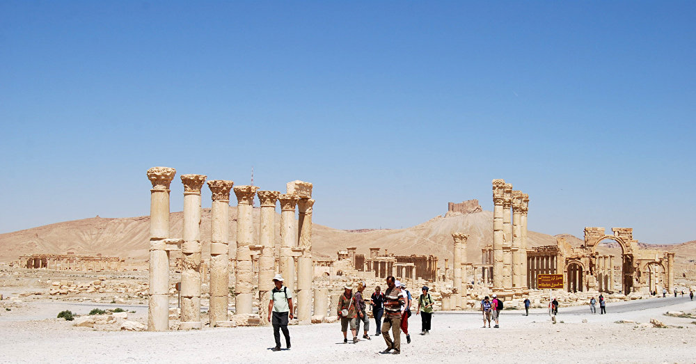 Starověké město Palmýra.