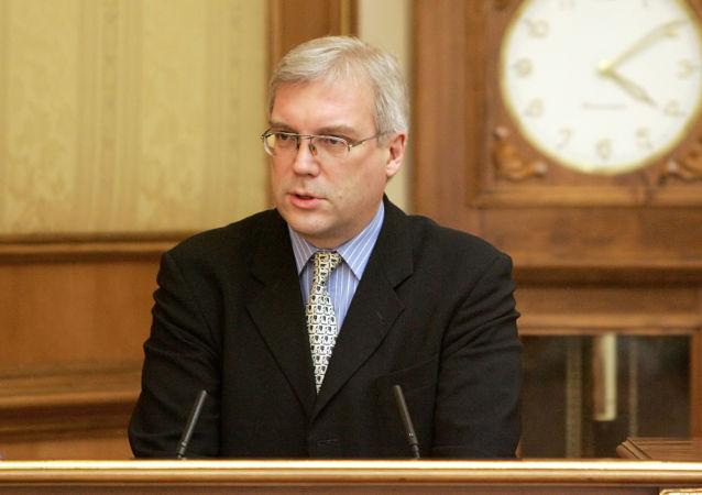 Vyslanec Ruska při NATO Alexandr Gruško