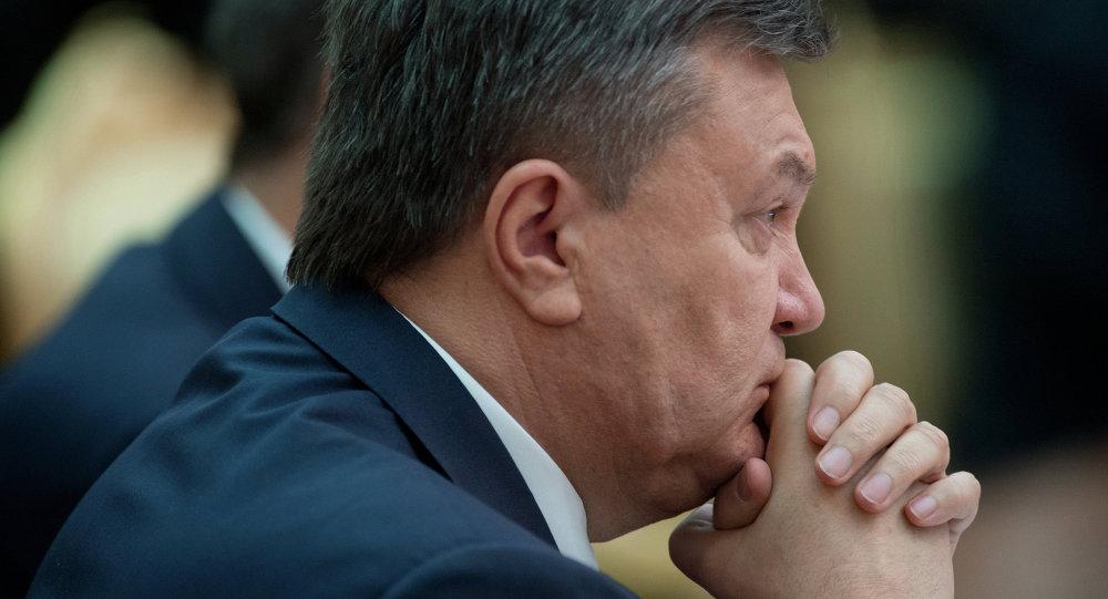 Svržený ukrajinský prezident Viktor Janukovič