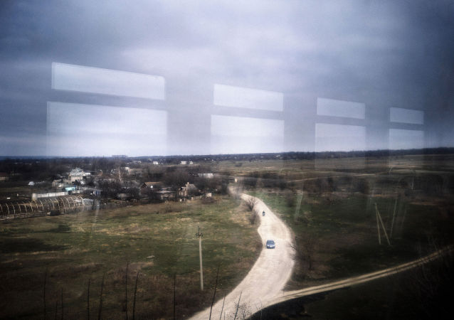 Pohled z vlaku Jasinovataja-Luhansk