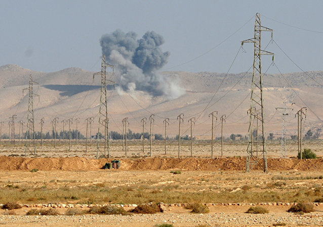 Výbuch letecké bomby FAB-500 v Sýrie