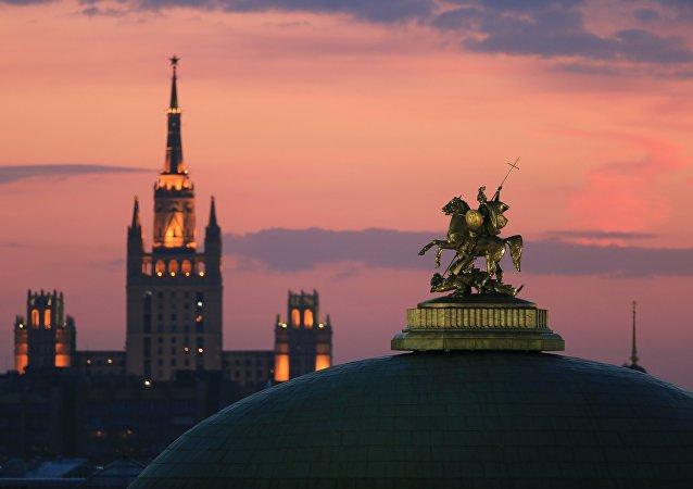 Moskva, náměstí Maněžnaja