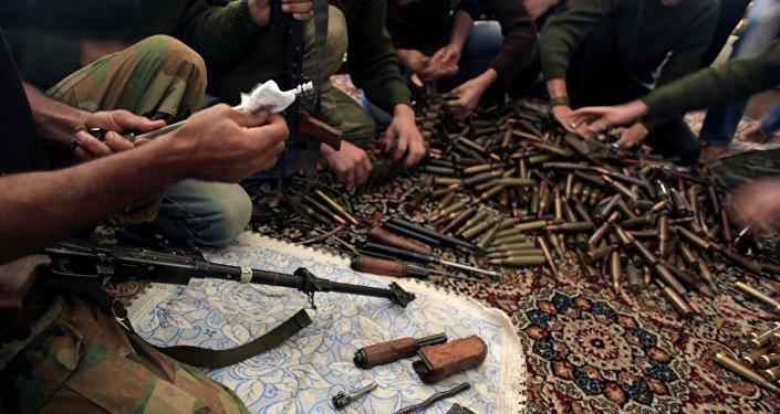 Příslušníci SSA v Aleppu