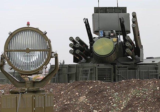 Systém vzdušné obrany na ruské letecké základně Hmeimim v Sýrii