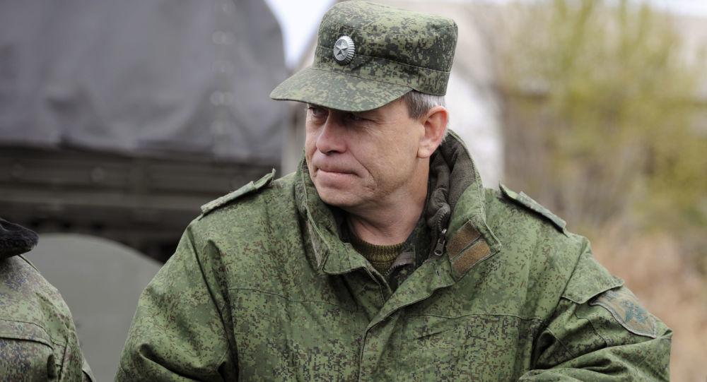 Zástupce velitele štábu domobrany DLR Eduard Basurin. Ilustrační foto
