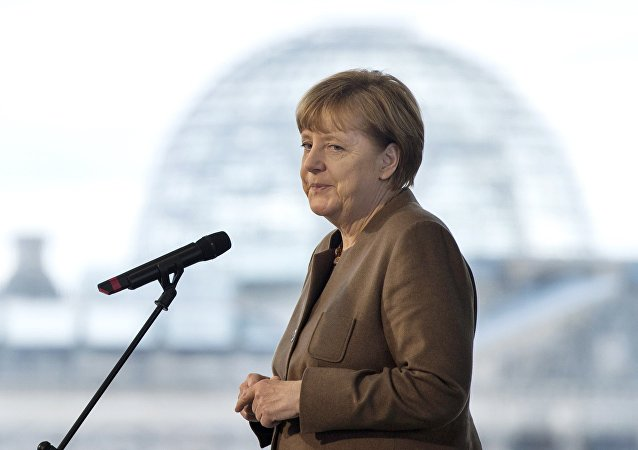German Chancellor Angela Merkel makes a statement at the Chancellery in Berlin, Germany November 18, 2015