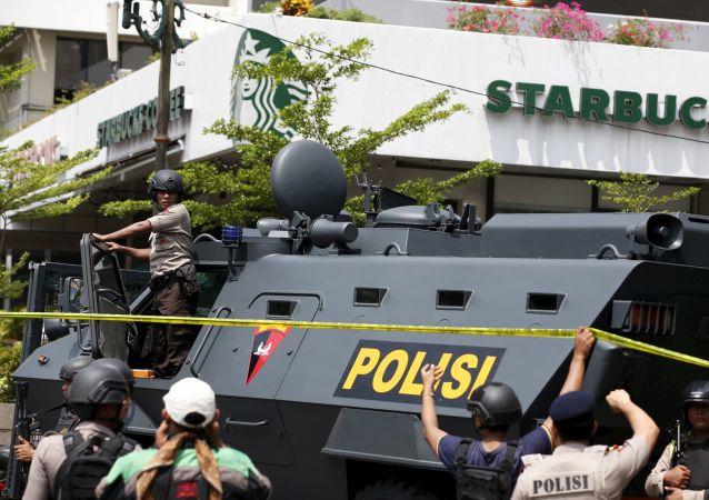 Výbuchy v Jakartě