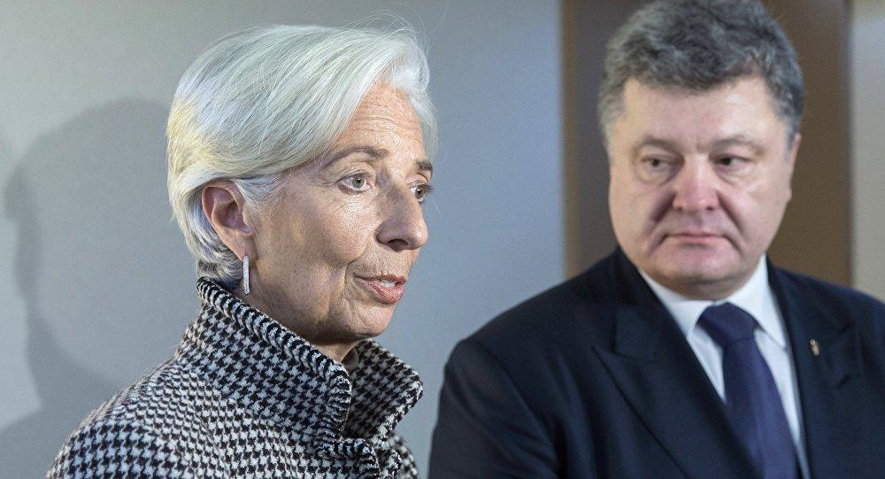 Petro Porošenko a Christine Lagardeová