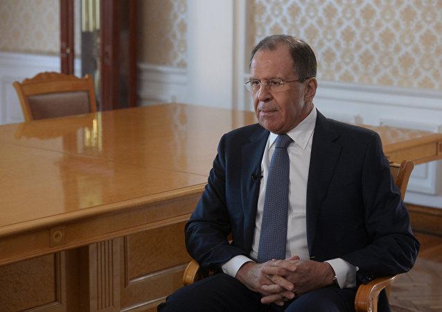 Ministr zahraničí Ruska Sergej Lavrov