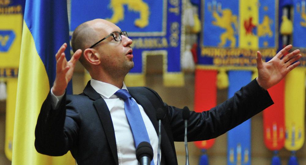 Arsenij Jaceňuk, ukrajinský premiér