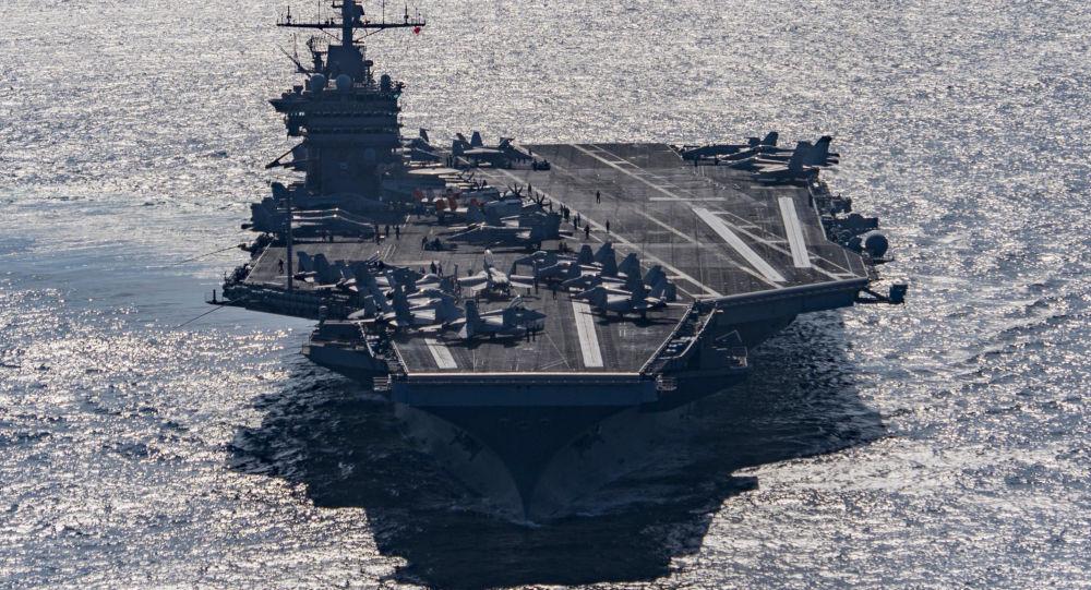 Americká letadlová loď Harry S. Truman v Omanském průlivu