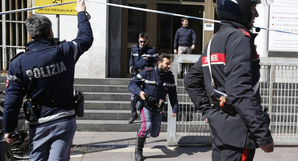 Střelba u soudu v Miláně