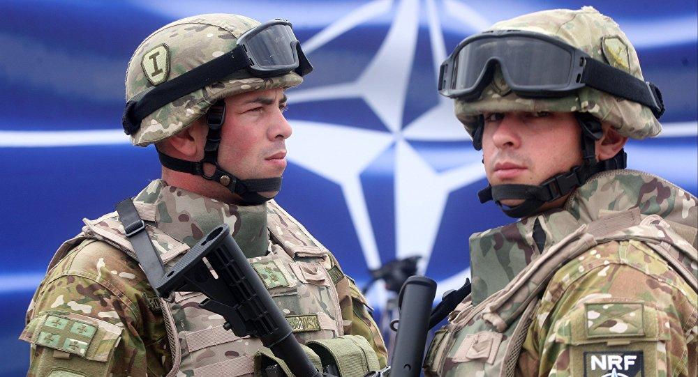 Gruzinští vojáci během cvičení NATO