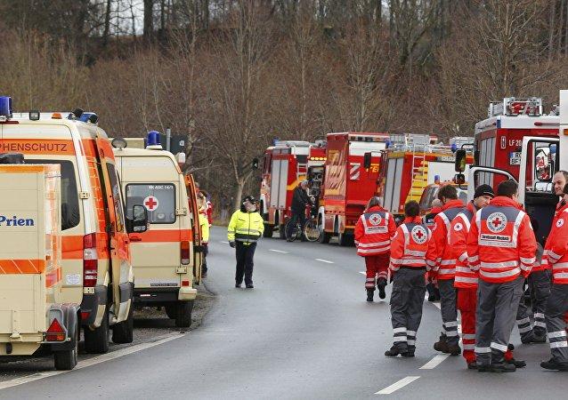 Srážka vlaků v Bavorsku