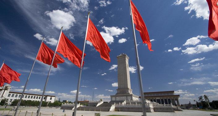 Náměstí Nebeského klidu v centru čínského Pekingu