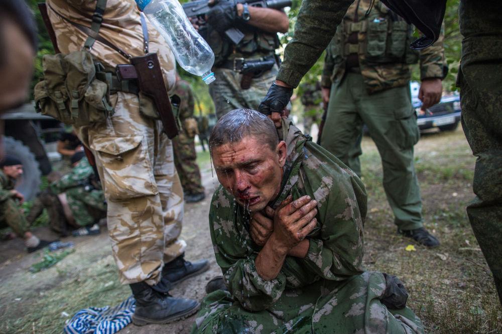 Ukrajinský výsadkář v zajetí