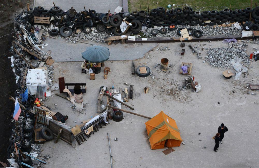 Barikády v Doněcku