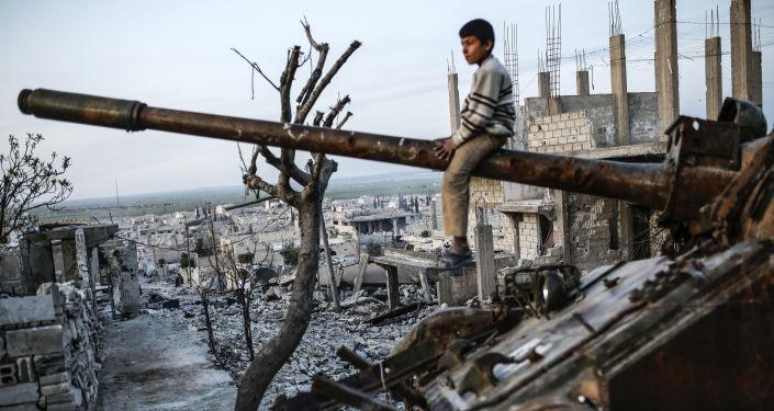 Kurdský kluk v Sýrii