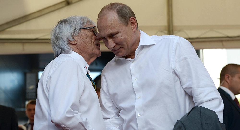 Bernie Ecclestone a Vladimir Putin