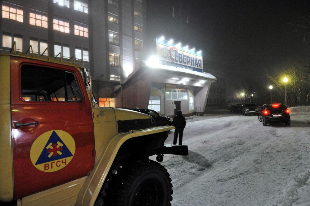 Likvidace následků tří výbuchů v dole Severnaja
