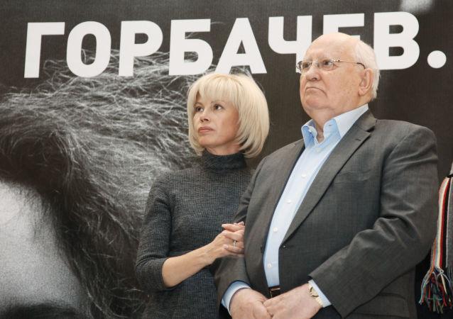 Michail Sergejevič Gorbačov s dcerou