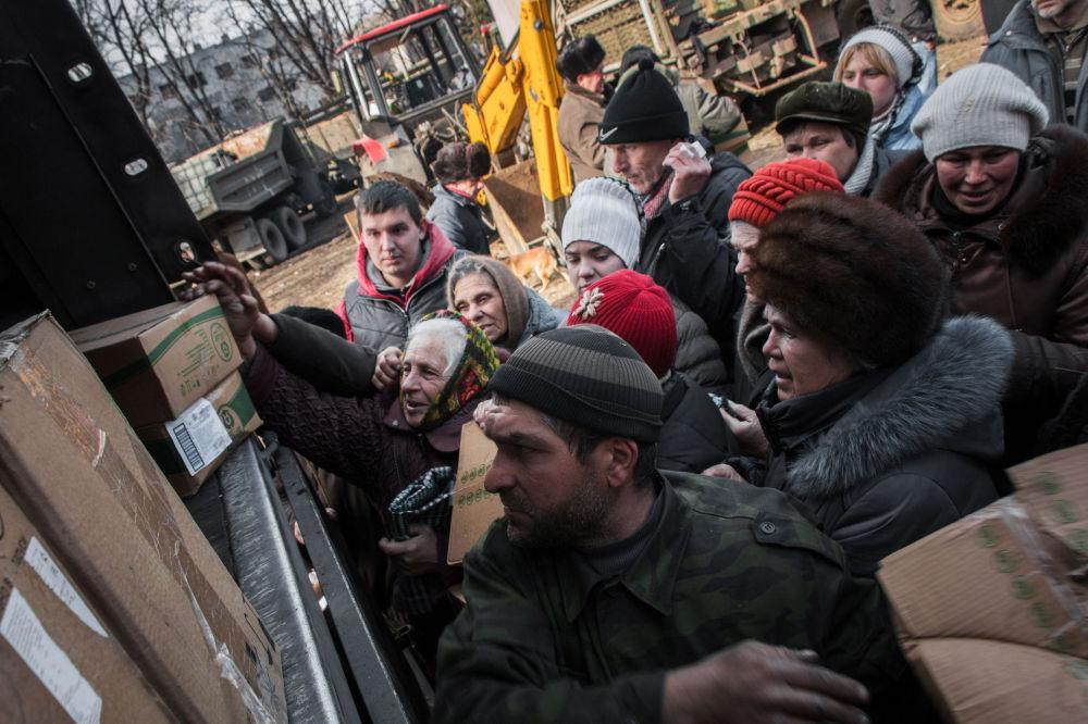 Humanitární pomoc pro obyvatele Doněcku