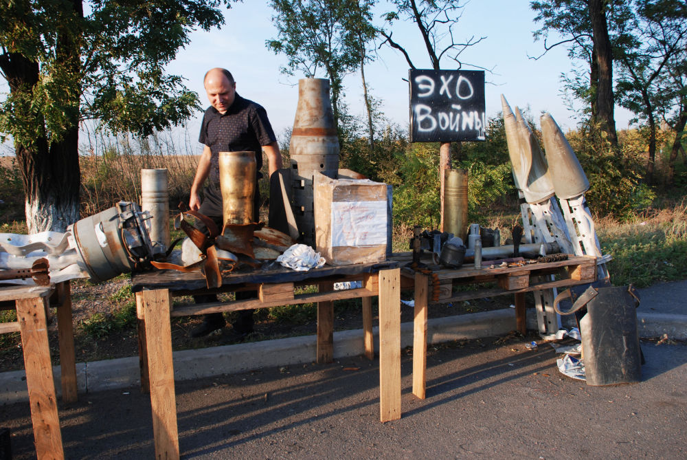 Improvizovaná expozice Válečné echo poblíž Makejevky