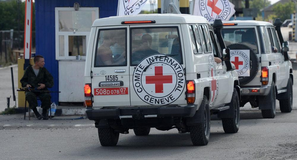 Auta Mezinárodního výboru Červeného kříže na Ukrajině