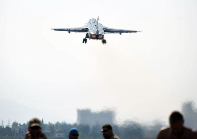 Ruský bombardér Su-24 v Sýrii