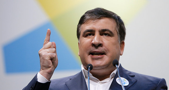 Former Georgian President, now governor of Odessa region in Ukraine, Mikhail Saakashvili