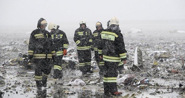 Místo havárie Boeingu 737-800 v Rostově na Donu