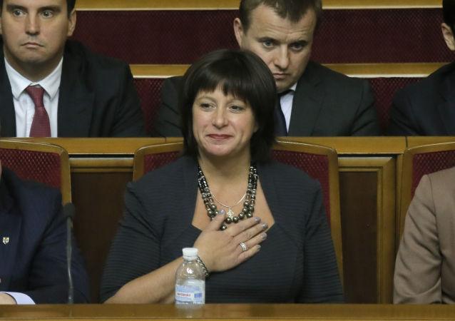 Bývalá ministryně financí Ukrajiny Natalja Jaresková