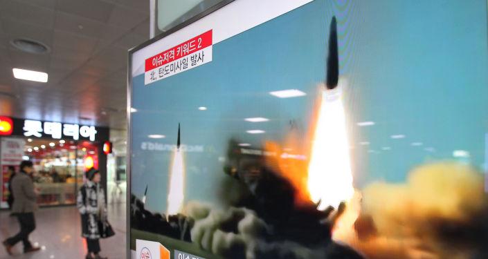 Odpálení rakety KLDR. Archivní foto