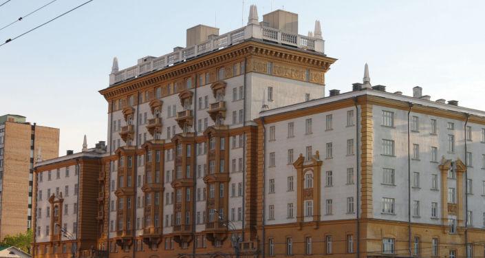 Budova velvyslanectví USA  v Moskvě